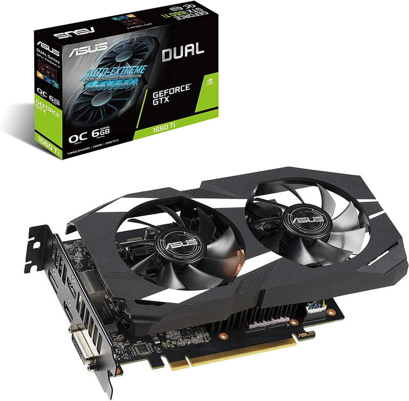 ASUS GeForce GTX 1660 Ti 6GB Dual-fan Overclocked Edition