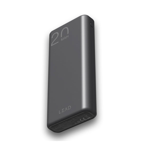 LEAD JP192 Power bank 20000mAh Dual USB , Black