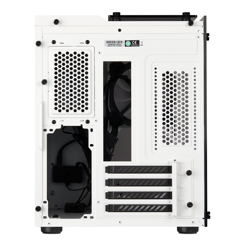 Crystal Series 280X RGB Tempered Glass Micro ATX Case — White