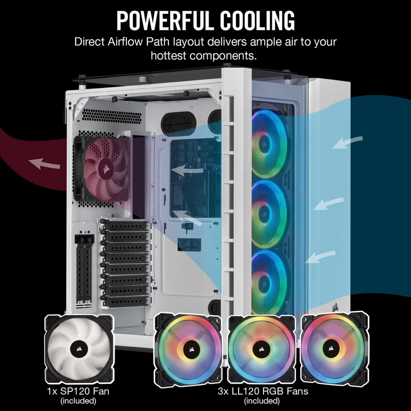 Crystal Series 680X RGB ATX High Airflow Tempered Glass Smart Case — White