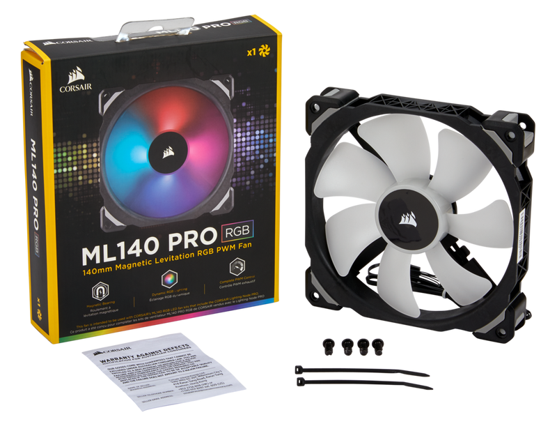 ML140 PRO RGB LED 140MM PWM Premium Magnetic Levitation Fan — Single Pack