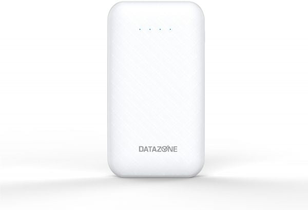 Small Size Power bank Type-C, Portable lightweight power bank 10000 MAH Capacity USB Port, White by Datazone DZ-10000C2