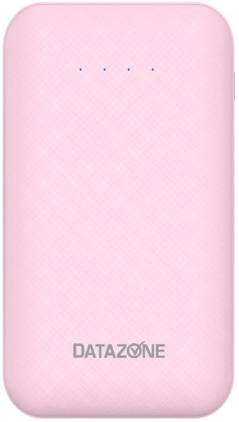 Small Size Power bank Type-C, Portable lightweight power bank 10000 MAH Capacity USB Port, Pink by Datazone DZ-10000C2
