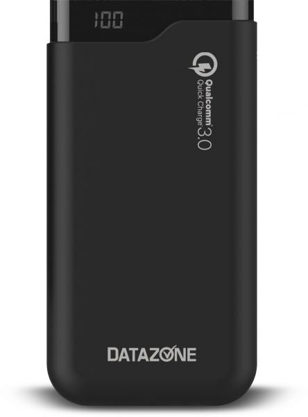 charge Power bank 15000 mAh , Qualcomm Charge 3.0A with LED BATTERY Percentage Display for smartphones DZ-PBQ15000A