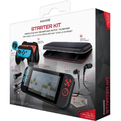 dreamGEAR Travel Case;Joy-Con;2 Joystick Caps;USB Car Charger;C Type Cable;Screen Protector