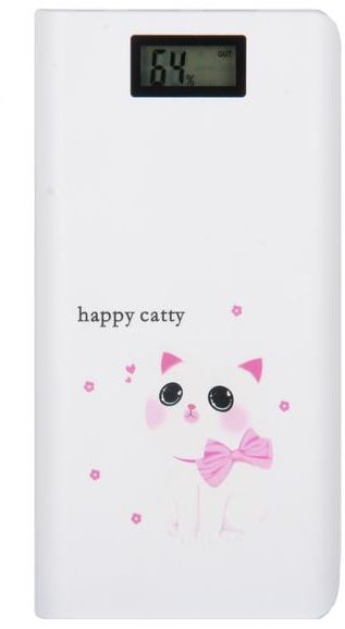 Power Bank 20,000 mAh for smart phones by Happy Catty HC-PB20000 White