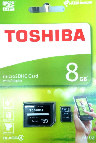 Toshiba M102 Micro SD High Capacity Card 8 GB Memory Card For Mobile Phones