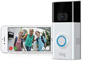 Ring 8VR1S7-0EU0 Video Doorbell 2, Black / Silver