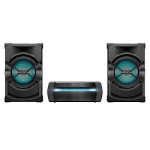 SONY High Power Home Audio System - DVD - 3 Boxes - 1200W - Black - SHAKE-X10D
