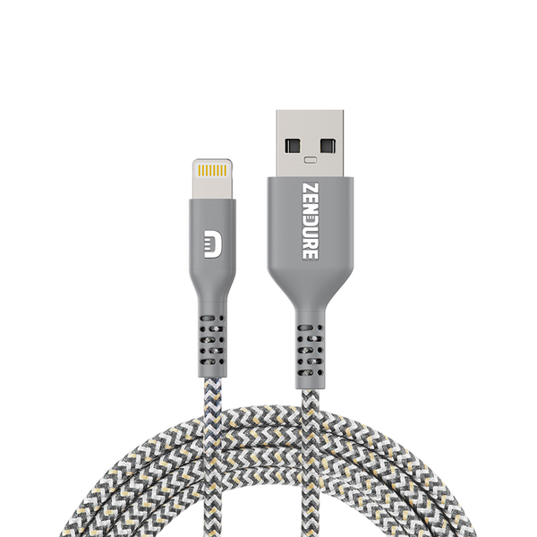 Tashria - Zendure 100 cm Ultra-Durable Kevlar Braided USB to Lightning -Grey -  - Tashria