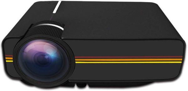 YG-400 PLUS Black Projector 1200 Lumens 1920x1080p Full HD 60W