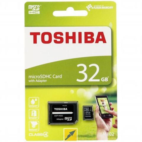 Toshiba 32 GB Memory Card For Multi - Micro SD High Capacity Cards - ADP-HS02