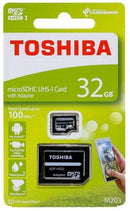 Toshiba 32GB M203 Class10 MicroSD Card with SD Adaptor PN: THN-M203K0320EA