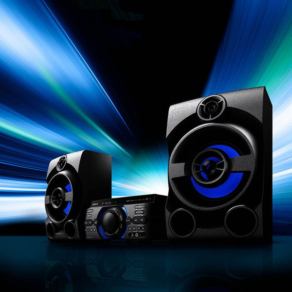 SONY High Power Home Audio System - Bluetooth - DVD - Mega Bass - Black - MHC-M40D
