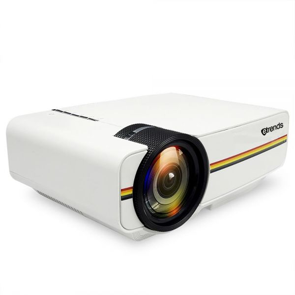Etrends Yg410 Led Projector For Iphone & Andriod Smartphones Supports 1080p With Built In Ezcast & Airplay Mirroring Hdmi Usb Vga - White