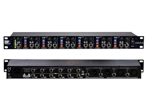 Art Pro Audio HeadAmp6 - 6 Channel Headphone Amp, Black