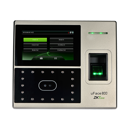 ZK uFace 800 Dual Mode Biometric Time and Attendance Terminal fingerprint and facial recognition