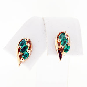 GREEN EMERALD WING STUDS