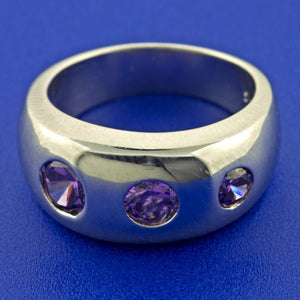 AMETHYST TRIO RING