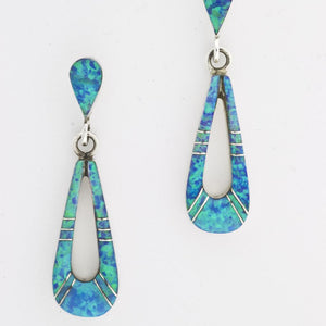 LONG  OPAL DANGLING EARRINGS