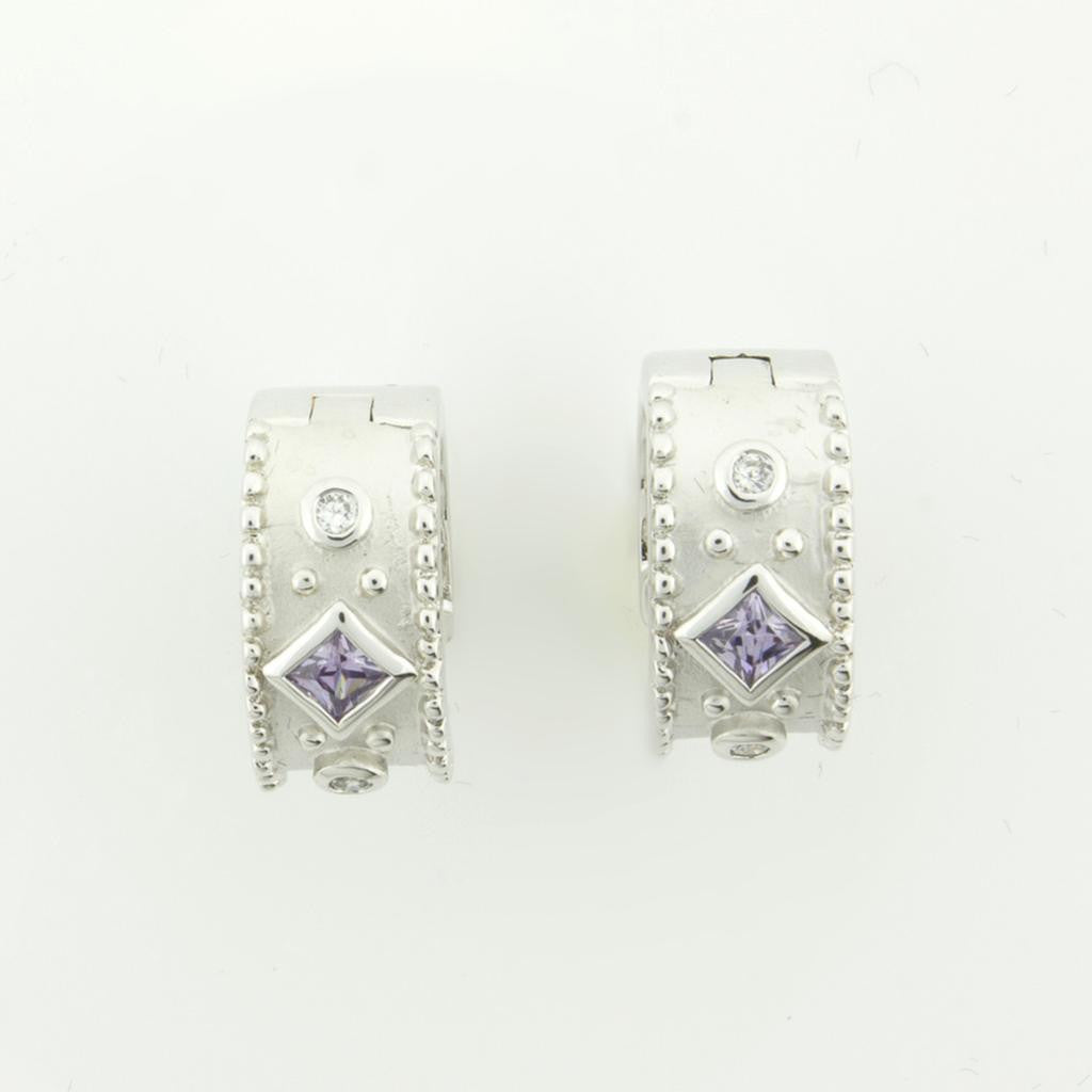 MAJESTIC AMETHYST CUFF EARRINGS