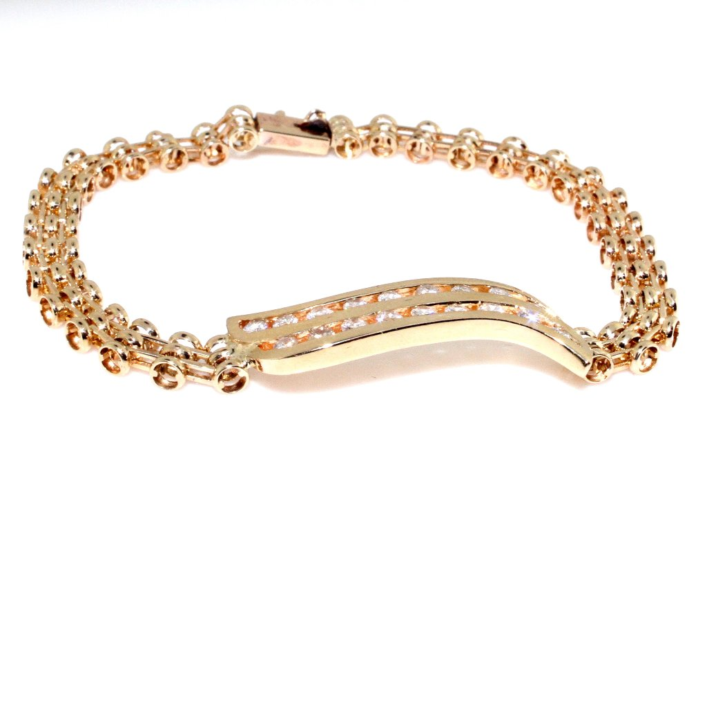 DECO DIAMOND GOLD LINK BRACELET