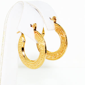 DECO FLAT SMALL HOOPS EARRINGS