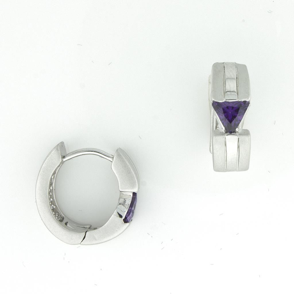TRILLION CUT PURPLE AMETHYST EARRINGS