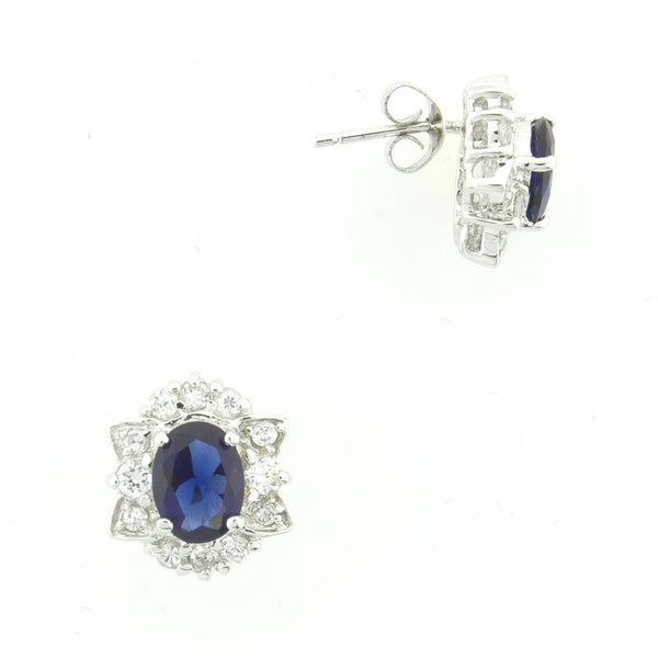 Elegant Blue Sapphire Earrings