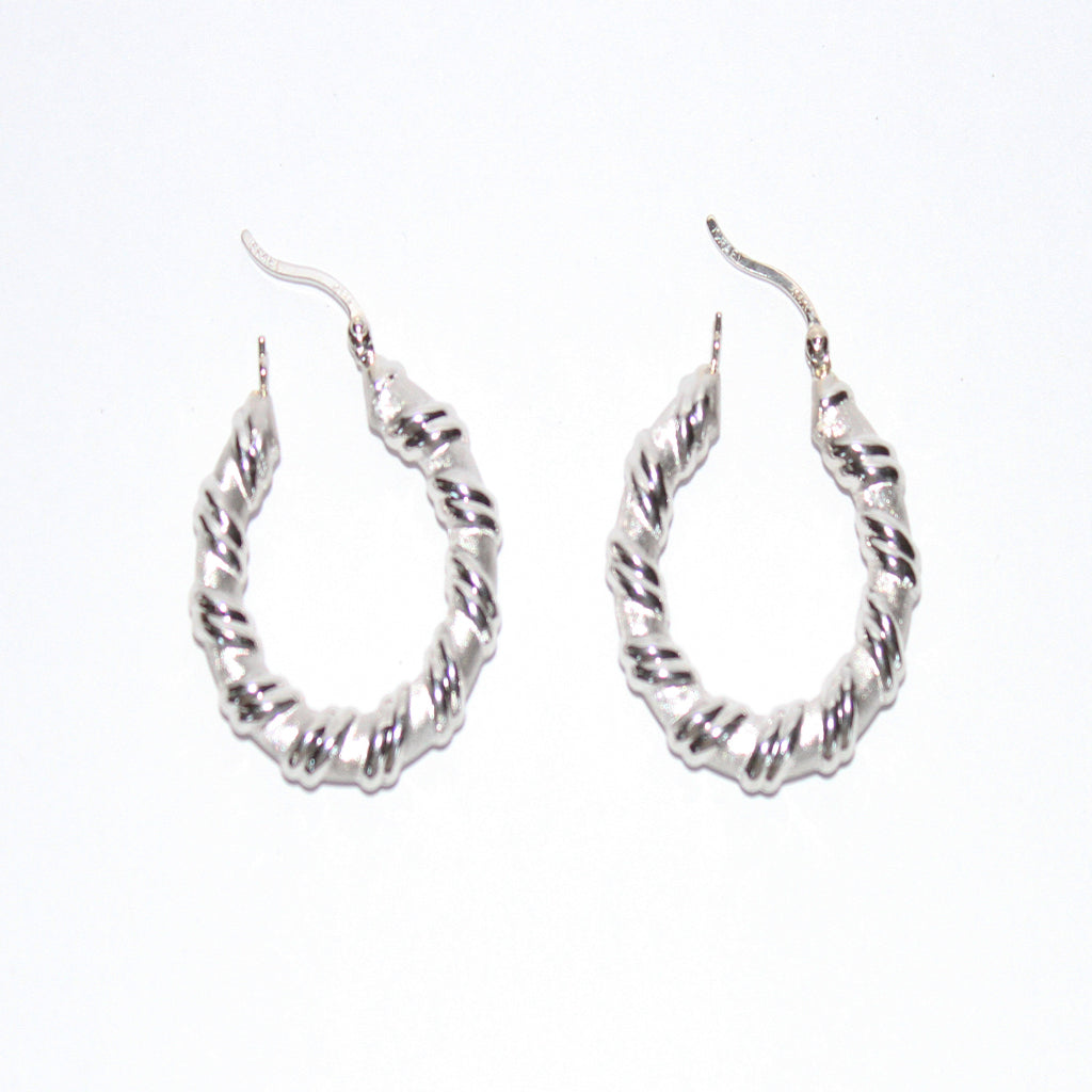 DECO ROPE HOOPS EARRINGS