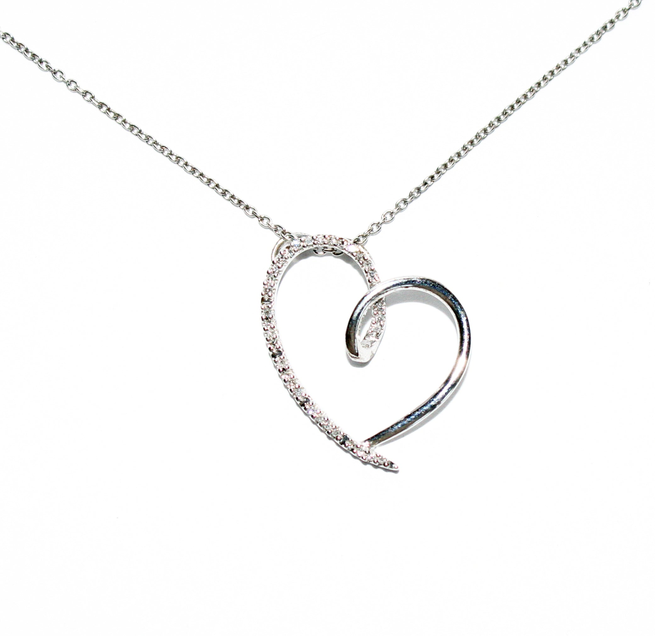 925 STERLING SILVER HEART PENDANT CHAIN