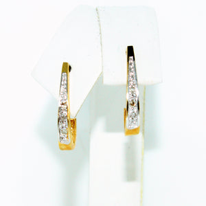 OPEN DIAMOND CUFF EARRINGS