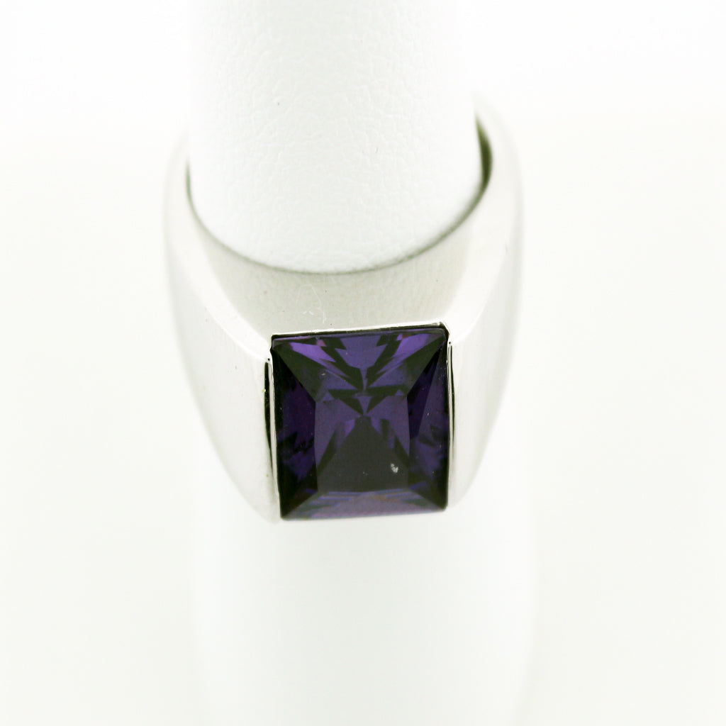 PRINCESS CUT AMETHYST BAND