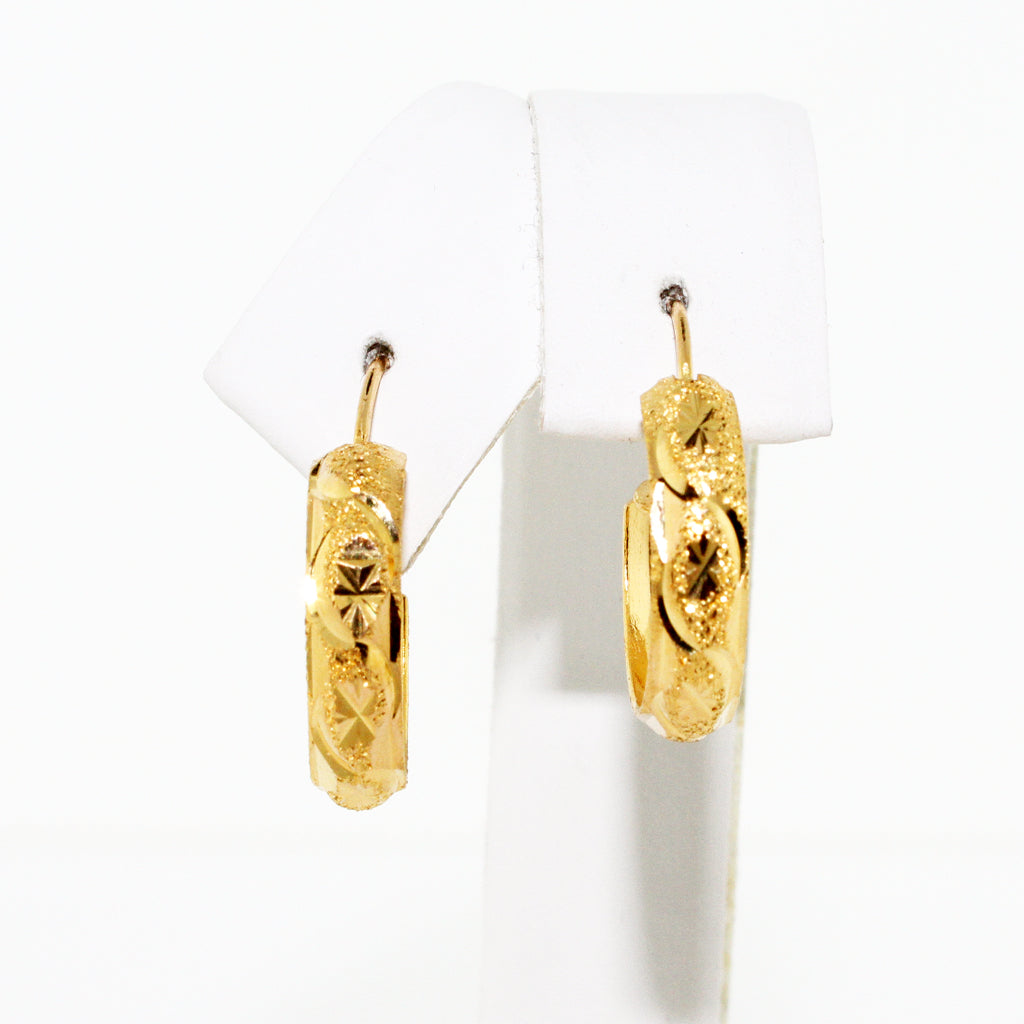 22K YG BABY CUFF EARRINGS