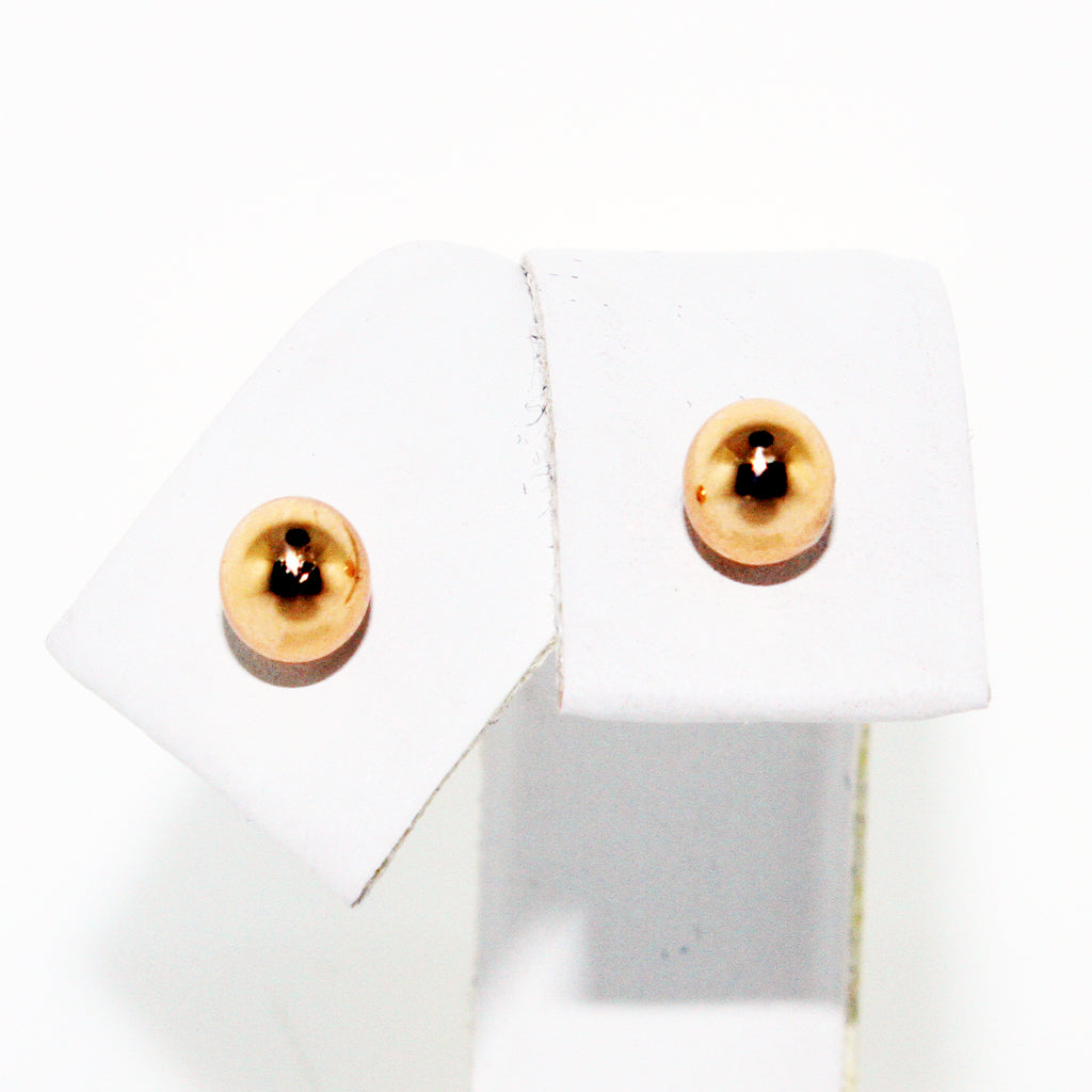 YELLOW GOLD BALL STUDS