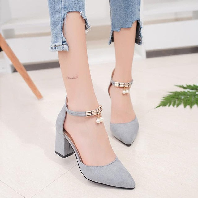 HOT High Heels Boat Style Wedding Shoes