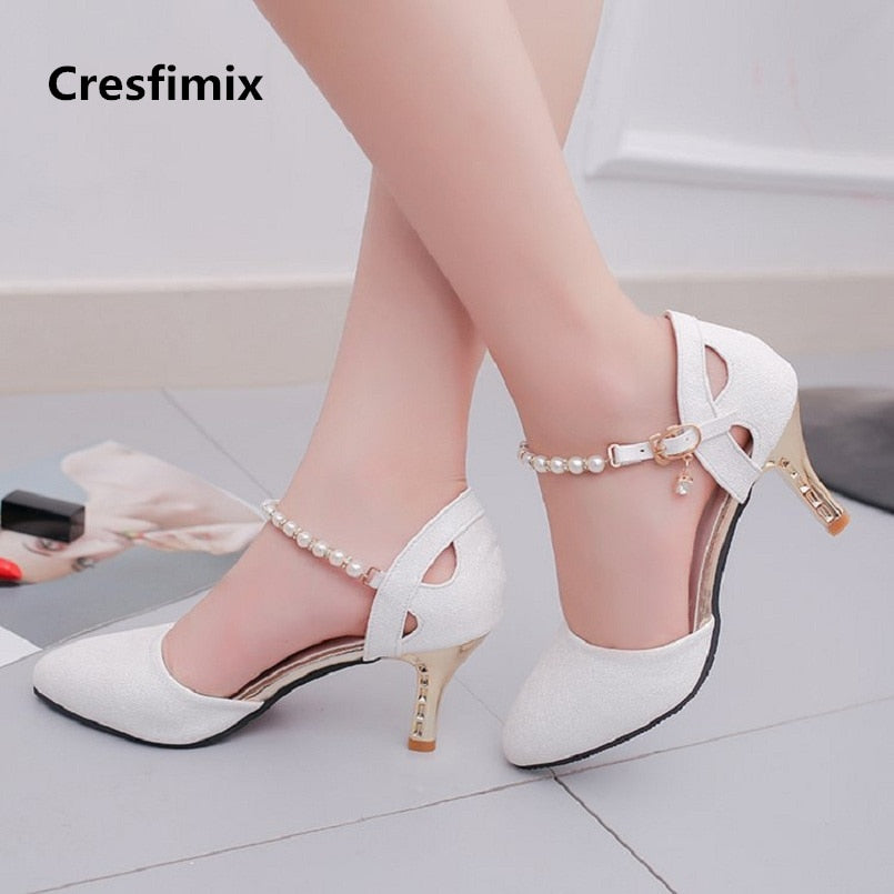 Cresfimix women comfortable spring & summer pumps l