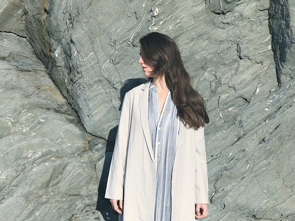 Coats BY The Coast Ali Golden Silk Coat Raquel Allegra Tamarind Style