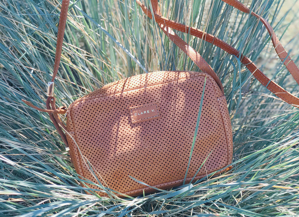 Clare Vivier Crossbody Bag Perforated Leather Tamarind Giveaway