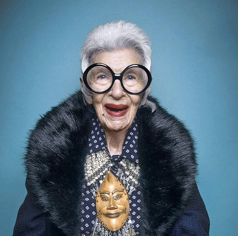 Iris Apfel Blue Illusion Ad Fashion Icon