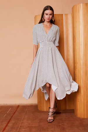 Caballero Midi Emily Dress in Geo Dot
