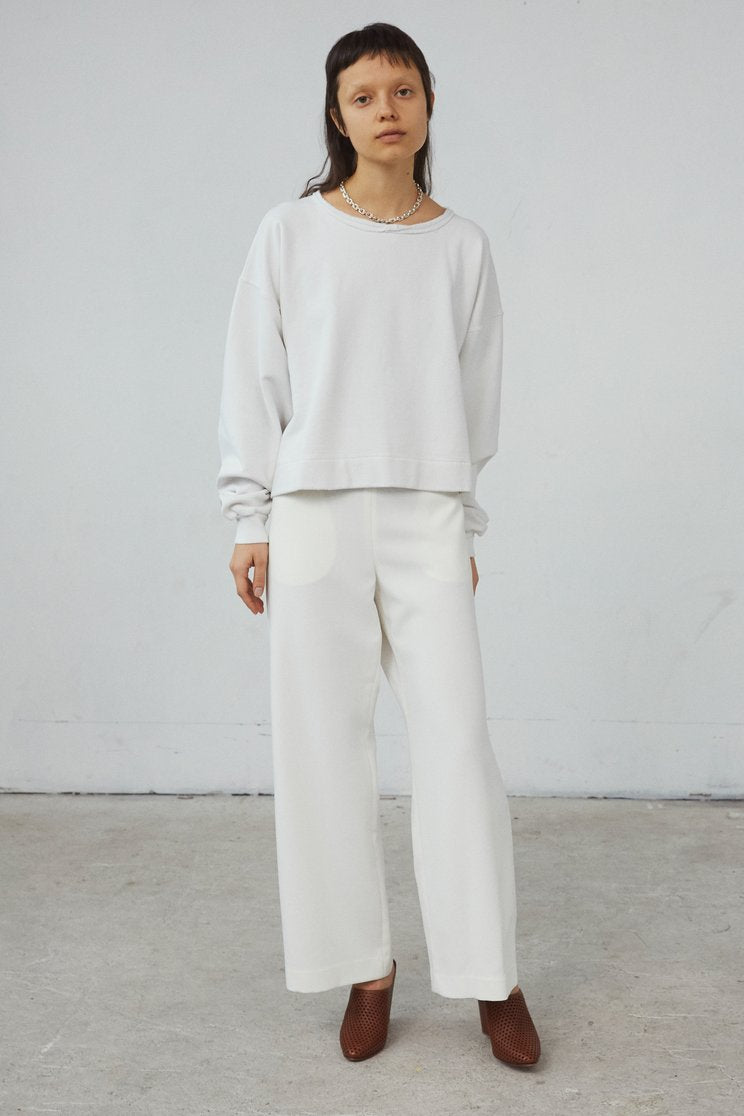 Rachel Comey Mingle Sweatshirt in Dirty White