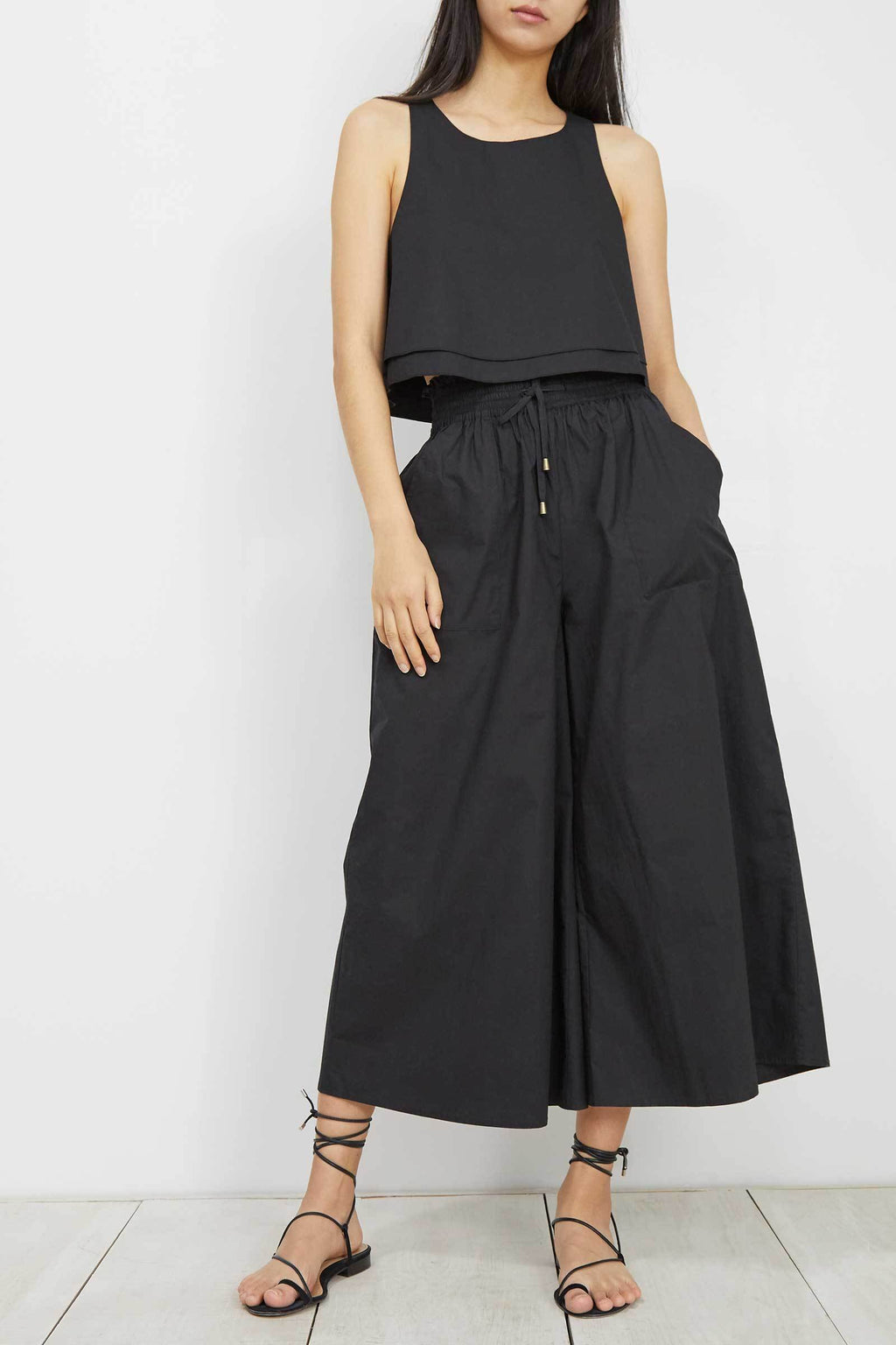 Apiece Apart Agnes Crop Top in Black