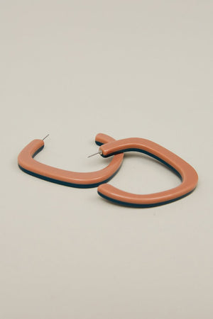 Rachel Comey Chilla Earrings in Pink-Navy