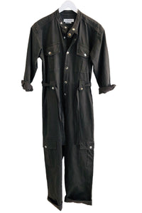 Overlover Mulholland Linen Cool Black Jumpsuit