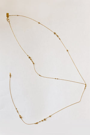 ILD 14k Gold Y Drift Bubble Necklace