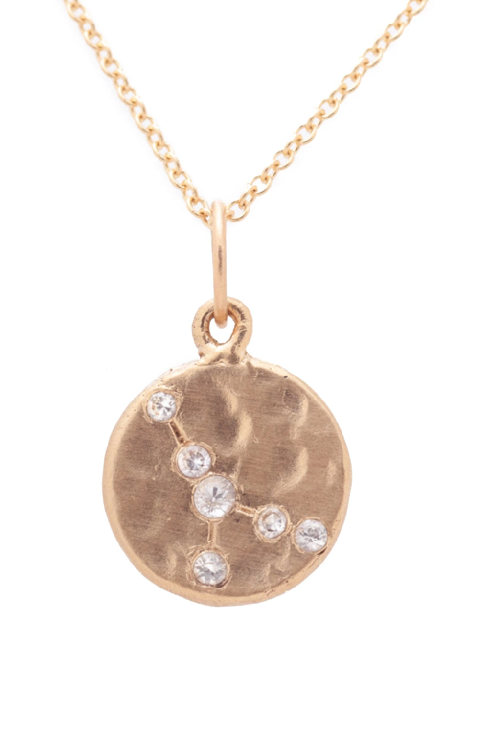 Valley Rose Cancer Constellation Necklace in White Sapphire