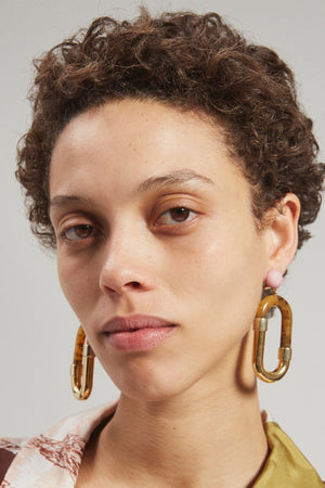 Rachel Comey Dial Earrings in Ginger-Gold