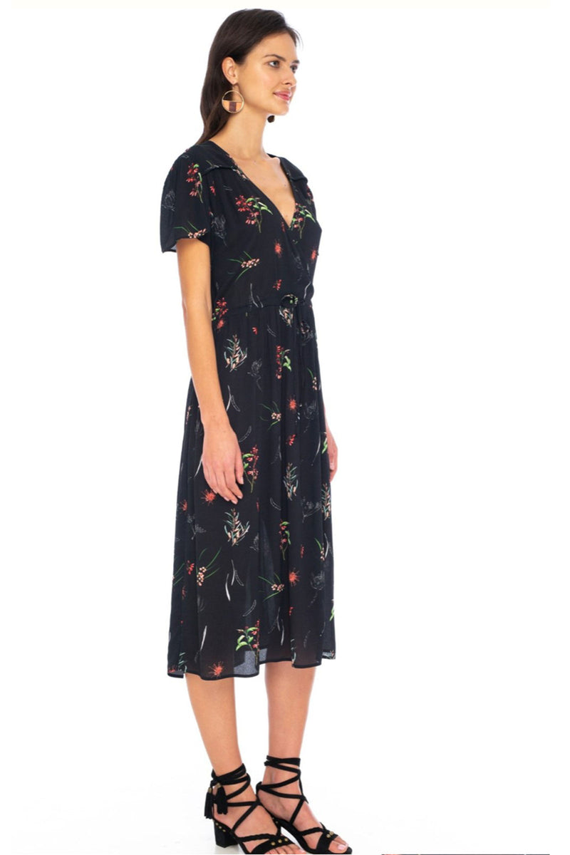 Caballero Loretta Dress Black Protea