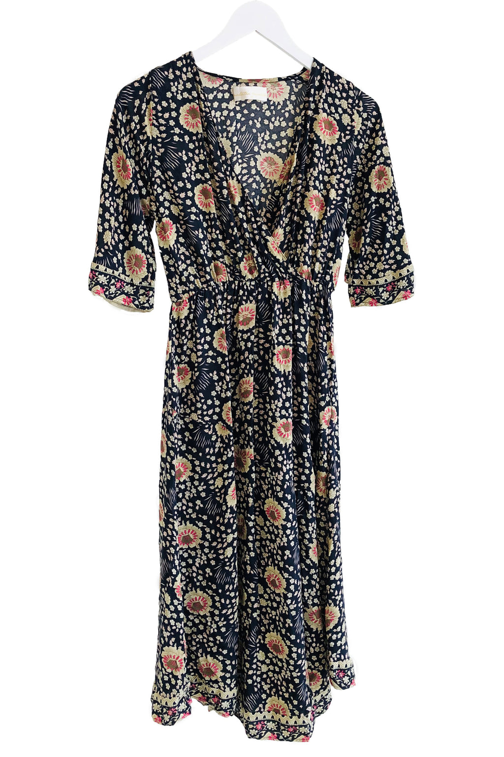 Natalie Martin Coco Dress in Vintage Flowers Midnight